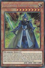 YU-GI-OH CARD: LEGENDARY KNIGHT CRITIAS - SECRET RARE - DRL2-EN002 - 1st EDITION