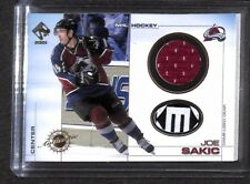2000-2001 Pacific Private Stock Game Used Jersey and Stick #29 Joe Sakic