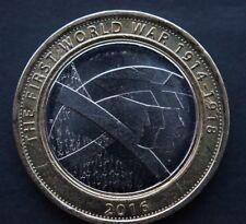 RARE 2016 due Pound Coin £ 2-PRIMA GUERRA MONDIALE 1914-1918 Esercito spalla a spalla