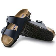 Birkenstock Arizona plantilla suave sandalia azul delgada 40 estrecho
