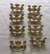 Vintage Brass Furniture Handles Or Pulls Lot Of (8) Used