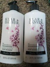 2 Klar & Danver Nourishing Cherry Blossom Body Wash 20oz Vitamin E Aloe Glycerin