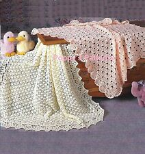 Babies Shawl/Blanket Crochet Patterns  Peach Blossom and Buttercup  Afghans 704