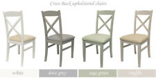 Florence Crossback Upholstered Chair.quality White Kitchen Dining Chair