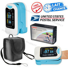 USA Promoted,OLED Fingertip Pulse Oximeter, SPO2 Heart Pulse Rate Monitor, Pouch