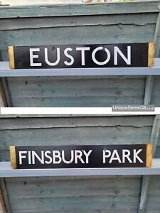 1938 London Underground Euston & Finsbury Park Enamel Train Destination Plate