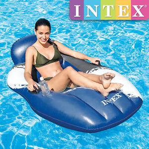 Intex Floating Mesh Lounge Schwimmliege Wasserliege Pool Liege Badeinsel 56862