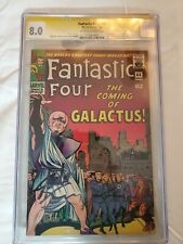 Fantastic Four 48 CGC 8.0 singed by Stann Lee