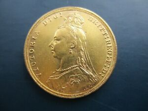 1891 QUEEN VICTORIA JUBILEE HEAD , MELBOURNE , FULL SOVEREIGN , 22CT GOLD COIN