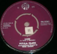 """PETULA CLARK ROMEO / YOU'RE GETTING TO BE A HABIT WITH ME 7N. 15361 1961 7"""""""