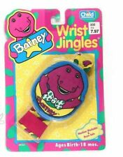 RARE!!Barney Vintage Wrist Rattle 1983 Wrist Jingles New Barney NEW IN PACKAGE!