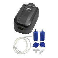 Hidom 4.0w Aquarium Adjustable Air Pump Twin Valve HD-603 with Accessories