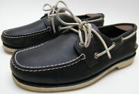 MENS Sperry Top-Sider BLUE WHITE LEATHER Boat ShoeS SZ 10.5~1/2 M
