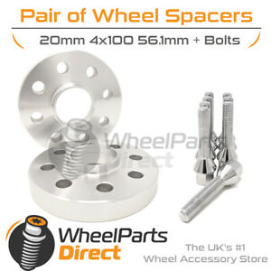 Wheel Spacers (2) & Bolts 20mm for Mini Hatch [R50/R53] 01-06 On Original Wheels