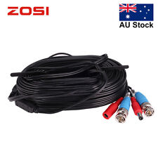 ZOSI 1x20M 65FT CCTV BNC Video DC Power Security Surveillance Cable Wire Black