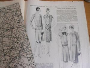 Vintage Modeheft 26/1928 Vobachs Familienhilfe mit Schnittmusterbogen