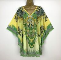 Tunic Kimono Kaftan Top Boho One Size UK 14 16 18 20 22 24 Arty Womens Lagenlook