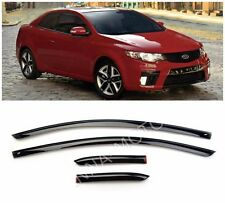 For Kia Cerato Koup 2009-2012 Window Side Visors Sun Rain Guard Vent Deflectors