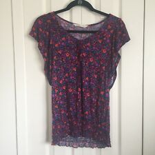 Old Navy Floral Peasant Top Size S