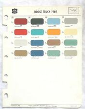 1967 DODGE TRUCK ACME COLOR PAINT CHIP CHART MOPAR ORIGINAL