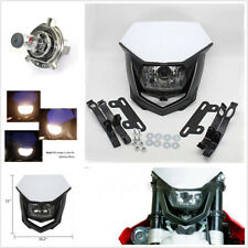 Street Fighter Motorcycle Dirt Bike Ghost Face Headlamp H4 Halogen Headlight 35W