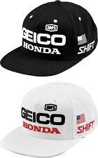 100% Geico Honda Podium Snapback Hat -  Mens Lid Cap