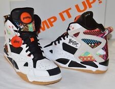 New Reebok Pump Blacktop Battleground Tribal Aztec White/Black 12 Men Cant Jump