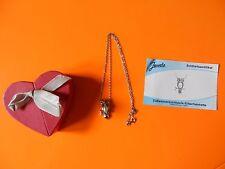 Süßwasserzuchtperle-Silberhalskette mit Anhänger Eule 925er Sterling-Silber *RAR