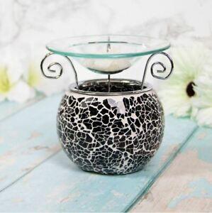 Desire Aroma Black Mosaic Wax Melt & Oil Burner Warmer Aroma Fragrance Candle