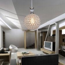 Modern Chrome LED Ceiling Light Chandelier Pendent Down Light Crystal Shade Lamp
