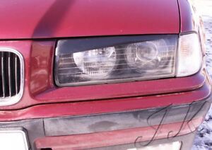 Fits BMW E36 - Eye Brows Head Light Cover Set v1