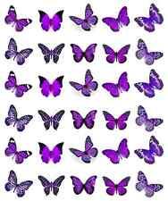 Purple Butterflies Cupcake Topper Edible Wafer Paper BUY 2 GET 3RD FREE!