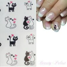 Nagelsticker Katze Nagelaufkleber Katzenpaar Nailart Tattoo mit Katzenpaar S215