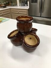 4 pot planter ceramic multi pots together connected plants unique novelty indoor