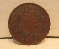 1863 Sarawak One Cent Coin J. Brooke Rajah