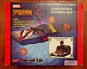MARVEL Spider-Man Playhut Inflatable Convertible Slumber Bed & Chair RARE!!!