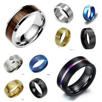 Men Women Stainless Steel Titanium Band Ring Wedding Engagement Gift Size 6-13