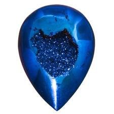 "US-MADE 1"" COBALT BLUE TITANIUM DRUZY DRUSY 25X18MM cabochon"