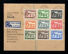 1811-TURKS & CAICOS-AIRMAIL REGISTERED COVER TURKS to CORNWAL(england) 1936 WWII