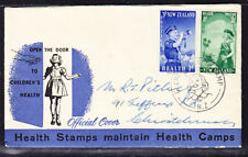 New Zealand 1958 Health First Day Cover - Glenelg Health to Christchurch