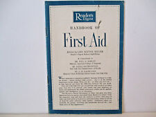 Reader's Digest Handbook of First Aid
