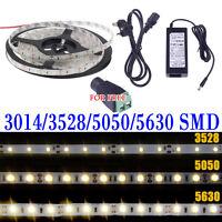 5M SMD RGB 3014/5050/3528/5630 300/600LEDs Cool Warm White Flexible Strip Light