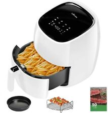 Power Air Fryer 5.8 Qt / 8 in1 Instant Digital Touchscreen white
