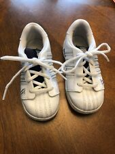 K-SWISS CLASSIC WHITE LEATHER LACE UP INFANT TENNIS SHOES SIZE 9