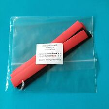 Heat Shrink Tubing 13mm 2 Colours Heat Shrink Red Black- Wrap Tube Kit - HSK BR3