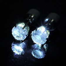Bling Fashion Colorful Unisex Light Up LED Studs Earrings Accessories for Party