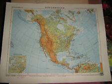 Schulhandkarte Nordamerika