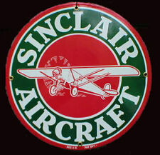 Sinclair Aircraft Gas Porcelain Advertising Sign