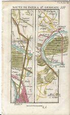 Antique map, Road: Paris to Saint-Germain-en-Laye. 1774, Guide Royal par L Denis