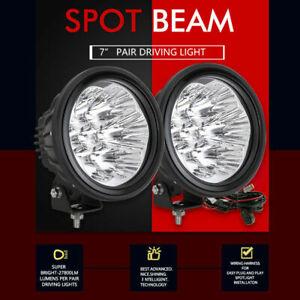 7inch OSRAM Spot LED Driving Lights Spotlight Offroad Lamp Round Headlight Fog